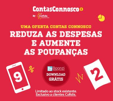 Campanha Contas Connosco - Oferta Aplicação Boonzi